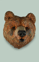 Bear Frig Magnet by Dale Green Wood Carving