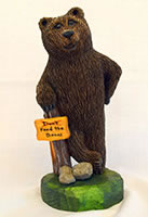 Don't Feed The Bears by Dale Green Wood Carving
