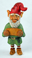 Shorty the elf carving by Dale Green