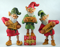 Tis The Season elves carving by Dale Green