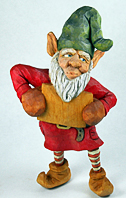 Whistler the elf carving by Dale Green