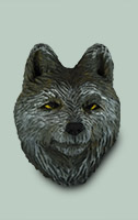 Wolf Frig Magnet by Dale Green Wood Carving