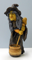 Gilda witch carving by Dale Green