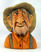 Gramps carving by Dale Green