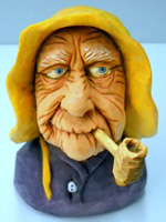 Granny carving by Dale Green
