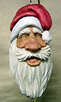Laughing Santa carving by Dale Green